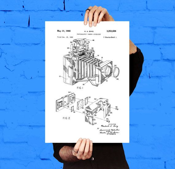 Vintage Camera Poster, Vintage Camera Patent, Vintage Camera Print, Vintage Camera, Vintage Camera Decor, Vintage Camera Blueprint, Camera by STANLEYprintHOUSE  0.79 USD  Vintage Camera Poster, Vintage Camera Patent, Vintage Camera Print, Vintage Camera, Vintage Camera Decor, Vintage Camera Blueprint, Camera  This is a vintage patent print. A Vintage Camera from 1888.  This poster is printed using high quality archival inks, and will be of museum qual ..  https://www.etsy.com/ca/li..
