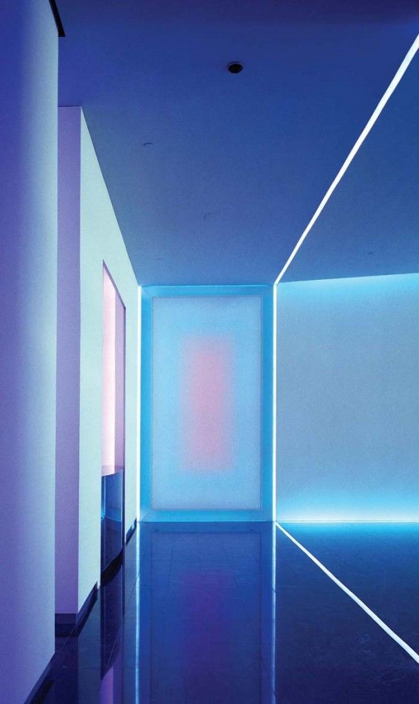 Futuristic Interior, The Wolfsburg Project, using light as an artistic medium to illustrate architectural spaces // James Turrell 色合いとネオンなところが好きです。
