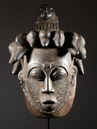 Yoruba mask - Nigeria, Togo, Benin, Ghana   (masques africains)