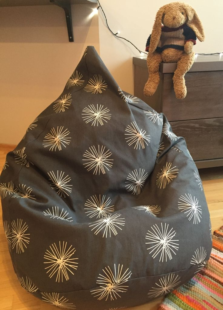"Cotton bean bag chair ""Snowflakes"".These snowflakes will never melt away. Great Christmas gift!"