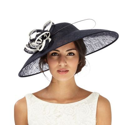 Principles by Ben de Lisi Navy bow saucer fascinator | Debenhams