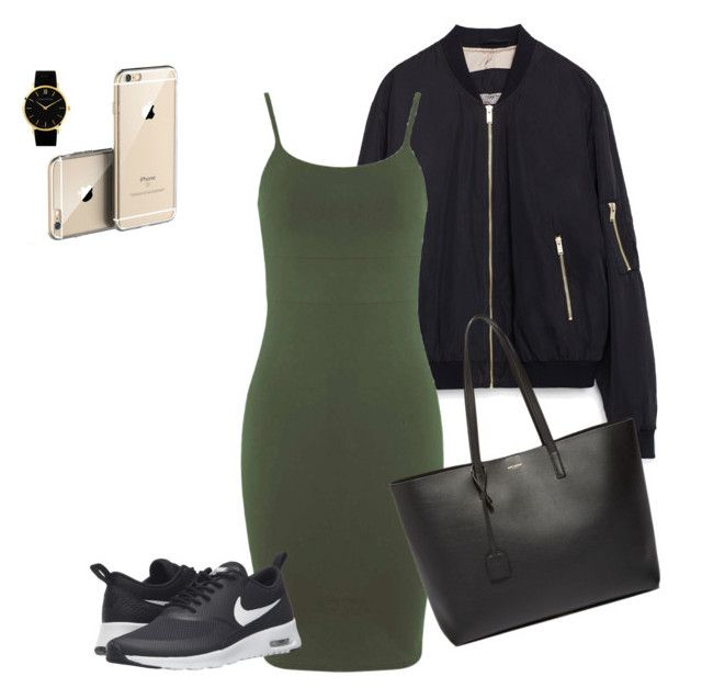 Untitled #180 by creece-massoudi on Polyvore featuring polyvore, fashion, style, Miss Selfridge, Zara, NIKE, Yves Saint Laurent, Larsson & Jennings and clothing