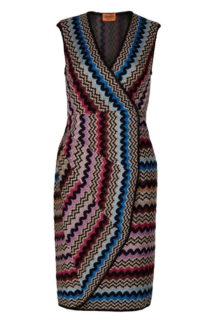 Lurex Faux Wrap Dress By MISSONI @ http://www.boutique1.com/