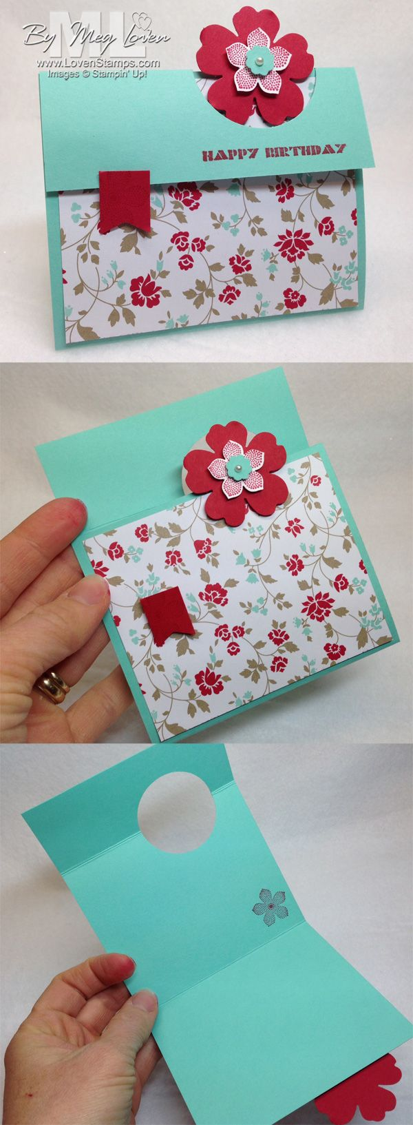 Peek A Boo Card Video Tutorial: Petite Petals  the Fresh Prints Designer Series Paper Stack, by LovenStamps