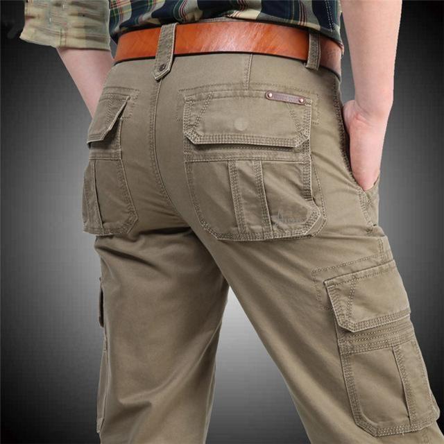471e4ecfaa4e 2018 Brand Mens Fashion Military Cargo Pants Multi-Pockets Baggy Men Pants  Casual Trousers