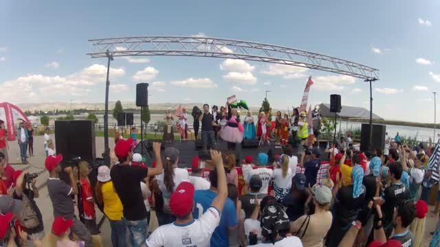 """Kurumlararası Dragon Festivali, Ankara 14 Haziran 2014 * Ödül Konuşması - Sn. Canan Perdahlı kaptanlığında """"Genç Amazonlar"""" Dragon Boat Takımı"""