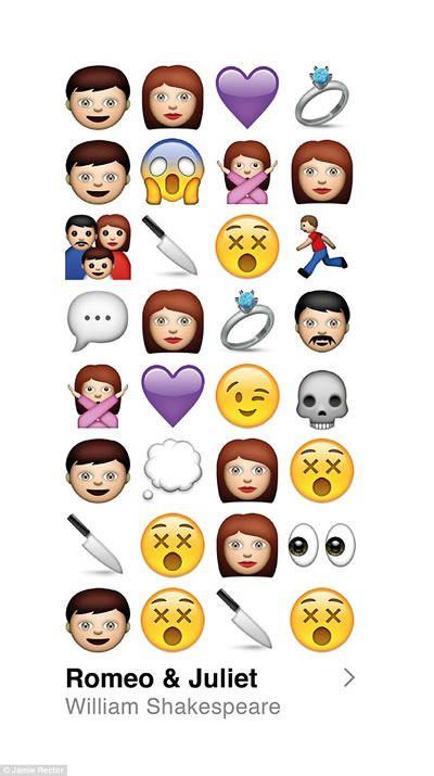 Shakespeare rewritten in Emojis: rewrite stories using emojis to summarize/check for understanding.