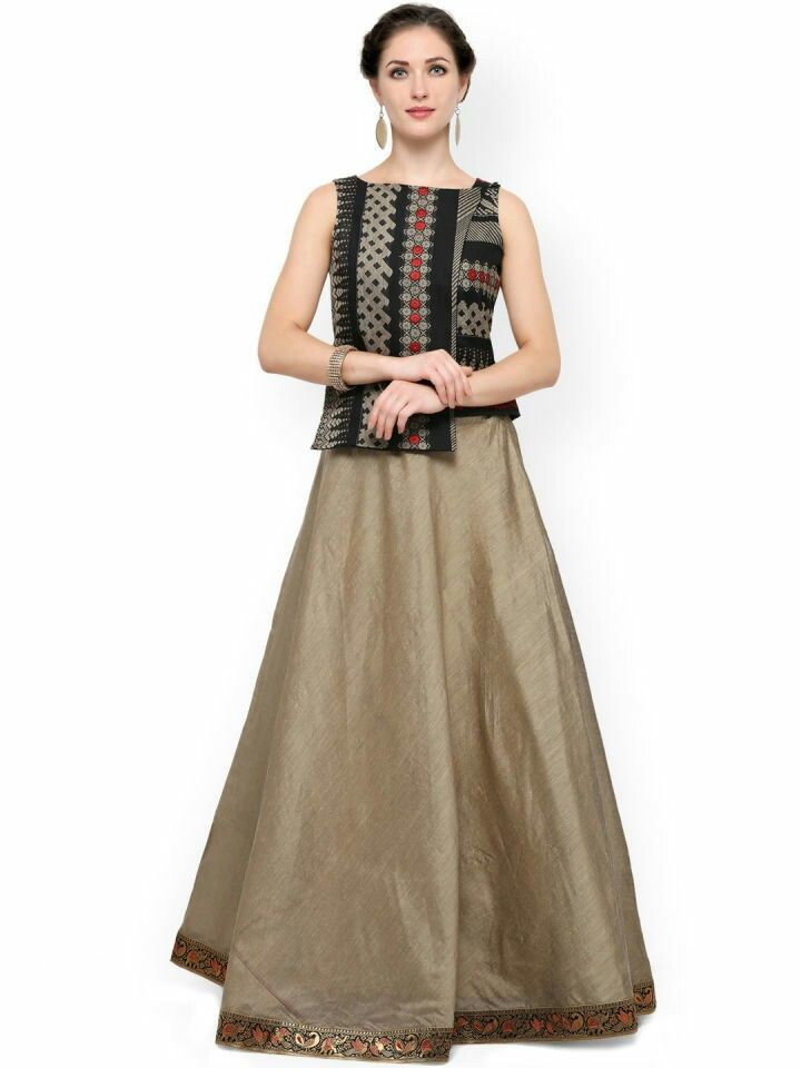 150f1899b1 Myntra Long Choli Lehenga, Indian Outfits, Dresses For Work, Beige, Clothes  For