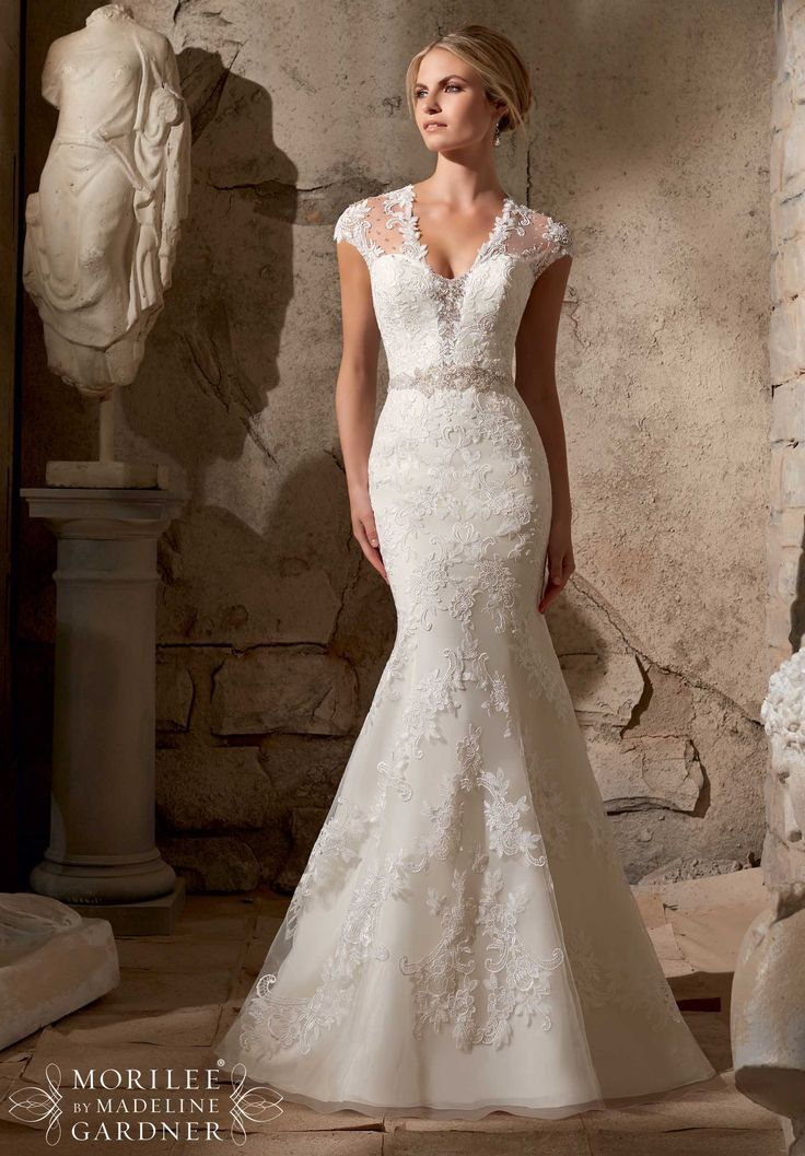 Broad Bridal Dress