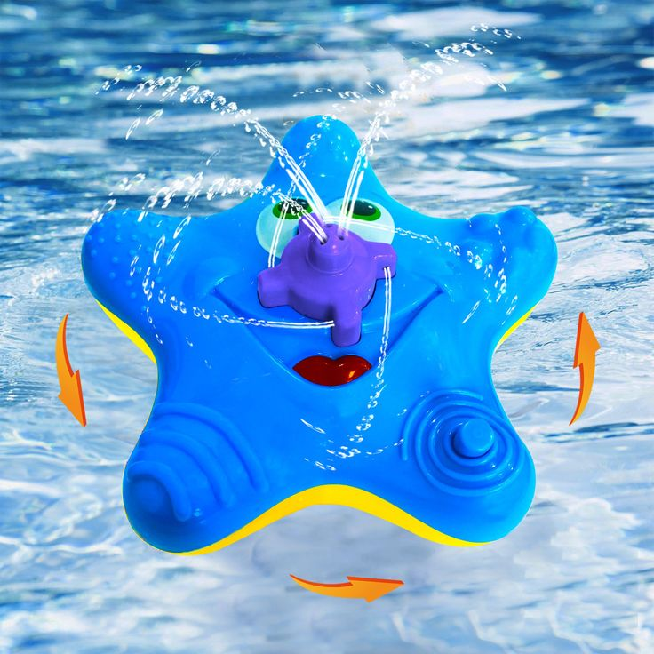 Baby Bath Toys,Starfish Bath Toys For Toddlers Boys Girls,Electronic Float  Rotate Spray