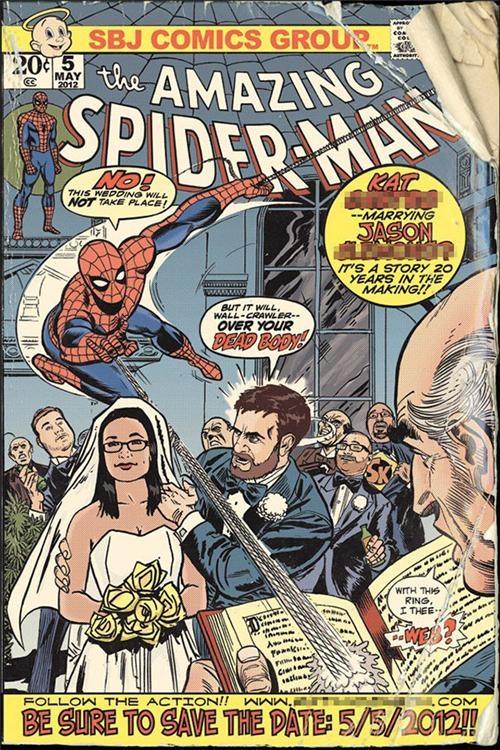 for a geek wedding elizabeth langenkamp - Superhero Wedding Invitations