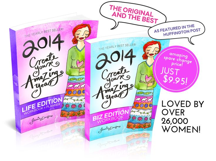 2014 Create Your Amazing Year In Life and Business: Workbook, Planner + Calendar | Leonie Dawson - Amazing Biz, Amazing Life