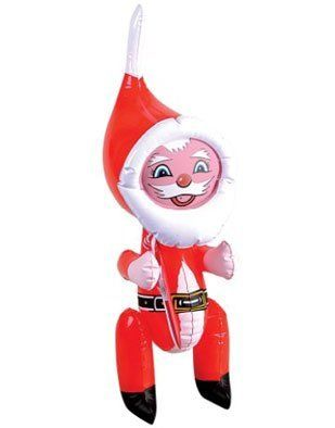 "New 22"" Inflatable Santa Claus Christmas Decoration by BlockBusterCostumes. $4.49. Great finishing touch for any Christmas theme. Size information: 22"". Brand new Fantastic value Christmas Santa Claus Inflatable Decoration. This posting includes: 22"" inflatable Santa Claus Christmas decoration as featured. These 22"" festive Christmas inflatable Santa Claus decorations are a great finishing touch for any holiday season decor! The modern depiction of Santa Claus as a..."