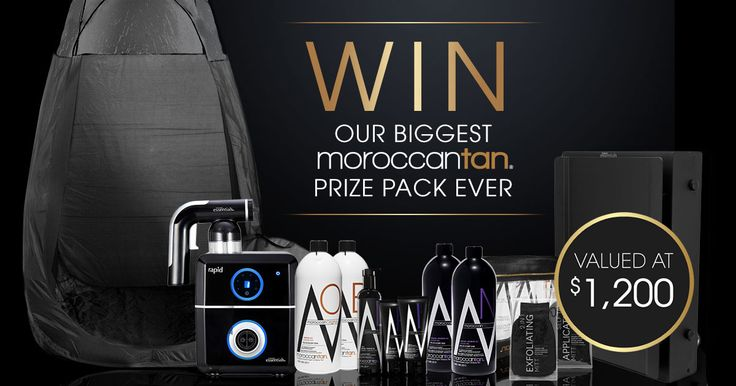 Don't miss your chance to win our biggest MoroccanTan prize pack ever!