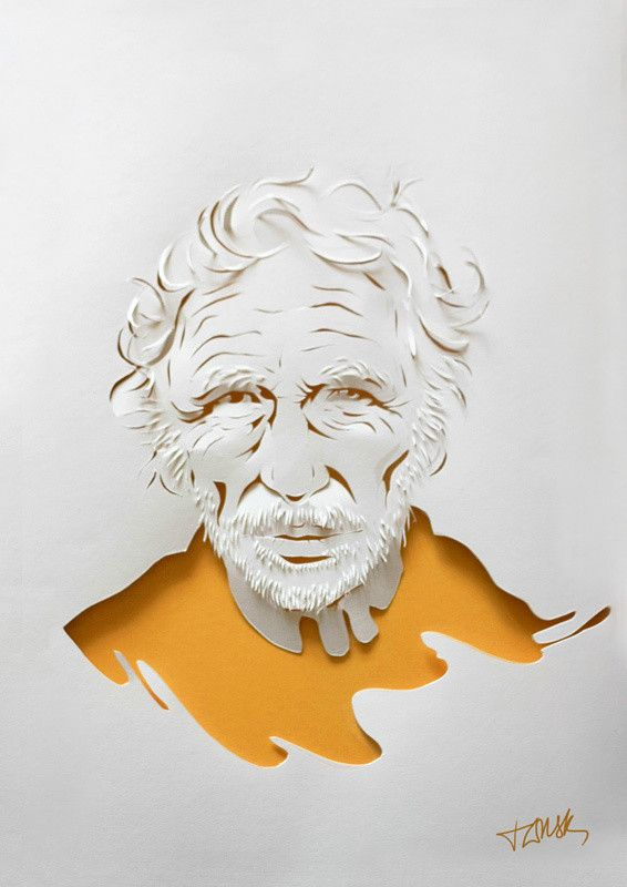 Pierre Richard white paper portrait