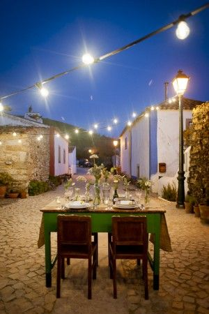 Outdoor dinner party in Mafra, Portugal.