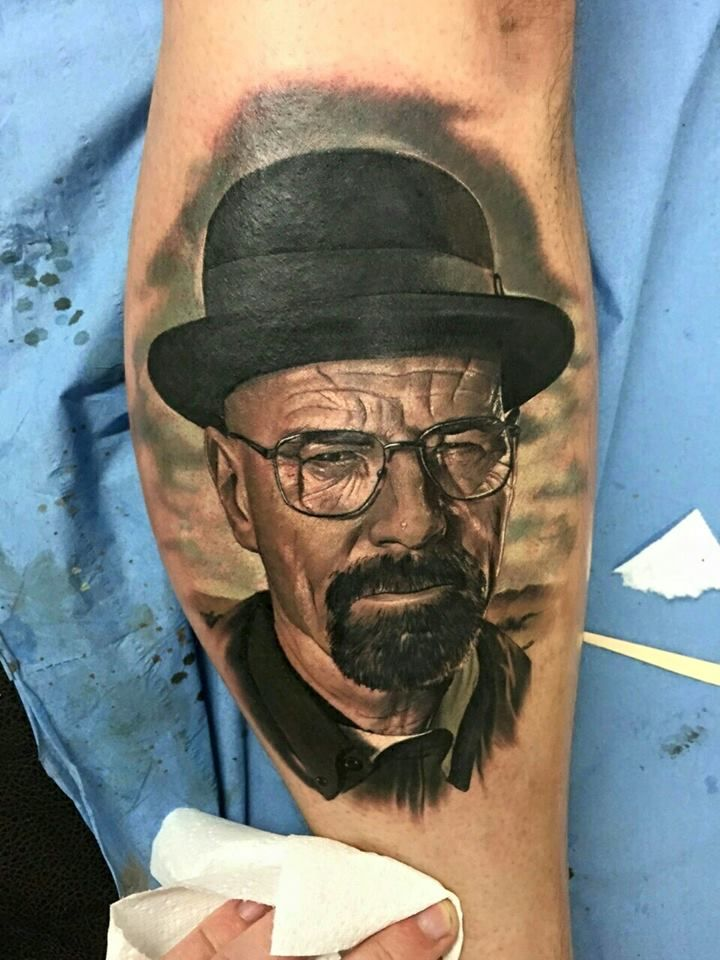 Heisenberg / Breaking Bad Portrait Tattoo                                                                                                                                                      Mais