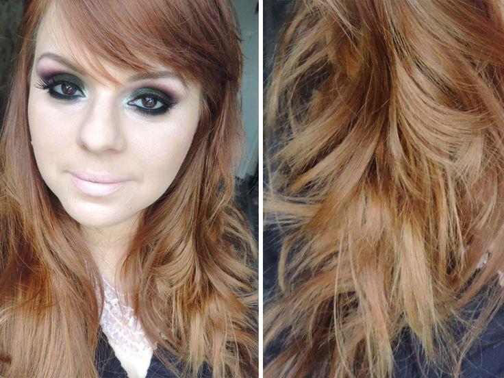 Minha cor de cabelo natural - loiro médio dourado acobreado