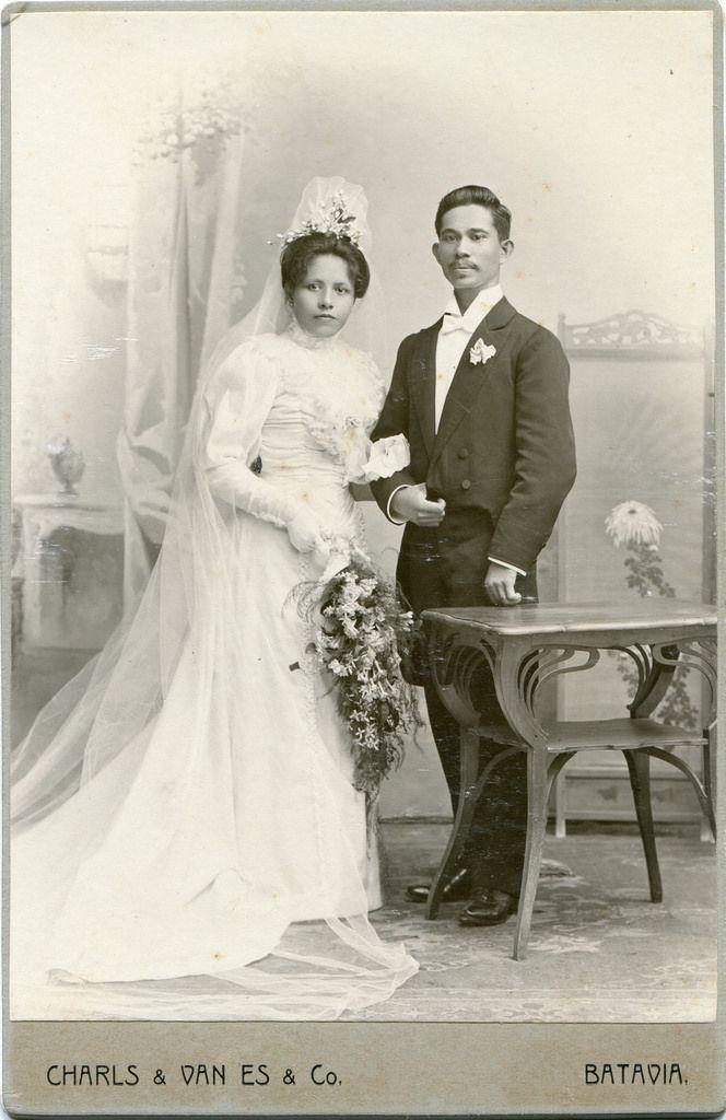 CAB Portrait of a bridal couple - Dutch East Indies - c.1905