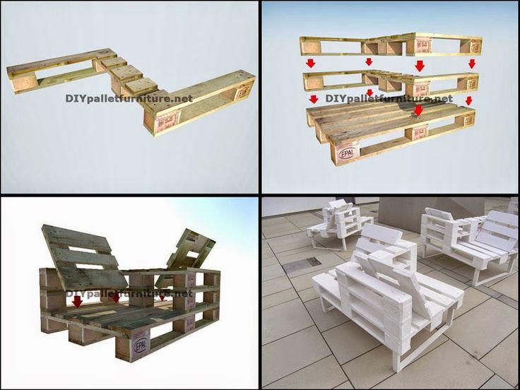 muebles de palets gua para hacer una butaca doble de diseo con pal