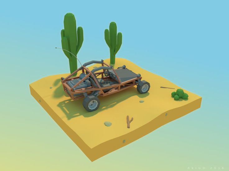 Sand Buggy [Low-Poly] by AkiGD on DeviantArt