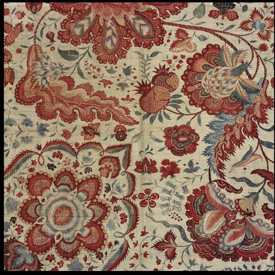 Textile. South-East, India. Painted and dyed cotton (chintz). © Victoria and Albert Museum, London