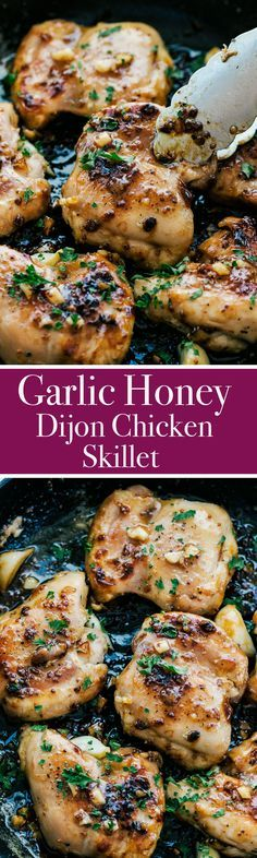 This Garlic Honey Dijon Chicken Skillet is all the sass you need for dinner tonight!