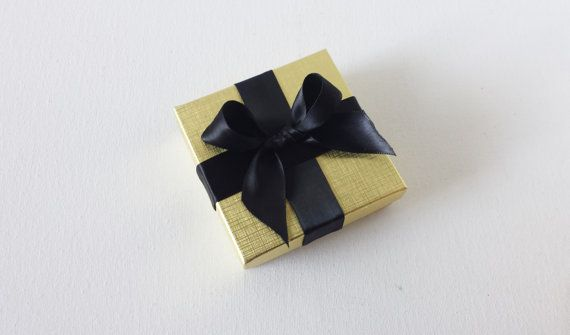 Gold and black gift box favor boxes gold gift box by CocoDoro