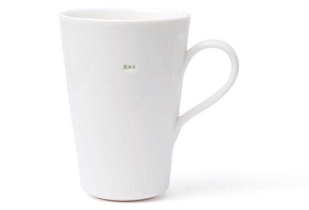 Set of 2 Latte Mugs, 'Tea'