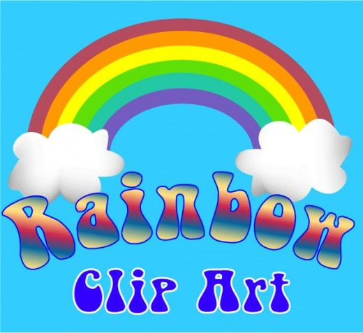 Colorful #rainbow #clipart and photographs of rainbows in #nature, for paper #crafts and classroom decorations, party favors and scrapbooking.