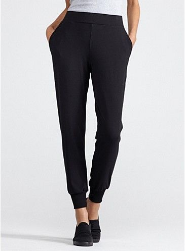 Black Slouchy Pant with Cuff