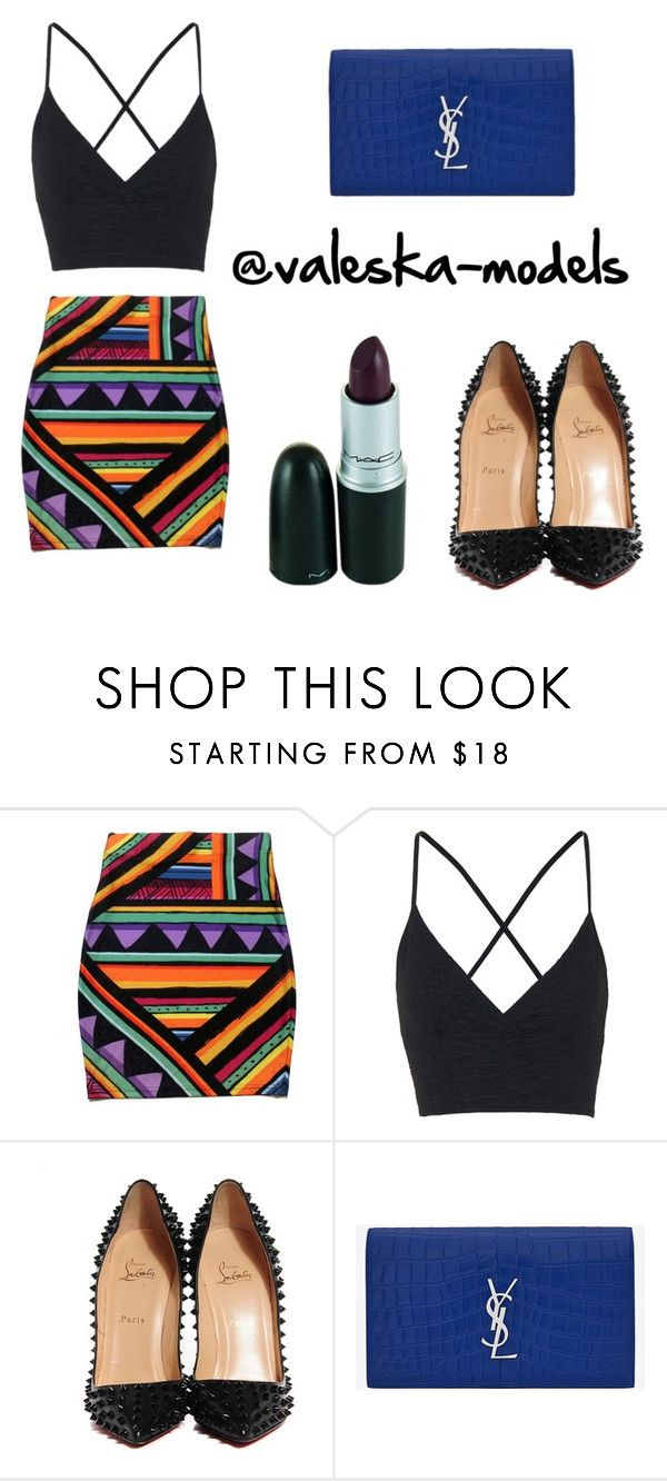 """Fashion set"" by valeska-models on Polyvore featuring moda, Topshop, Christian Louboutin y Yves Saint Laurent"