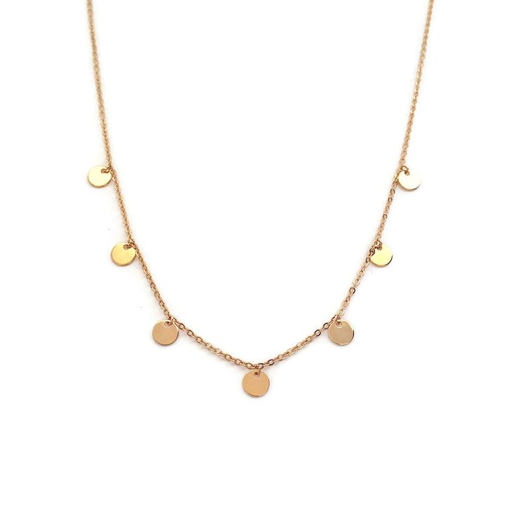 Gold Disc Necklace - 24,50