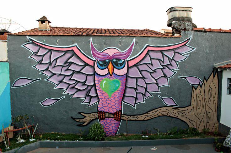 Graffiti realizado na casa da Fátima em Mirassol-SP .  Artistas : Alan Crippa e Leonardo Guimnomo .