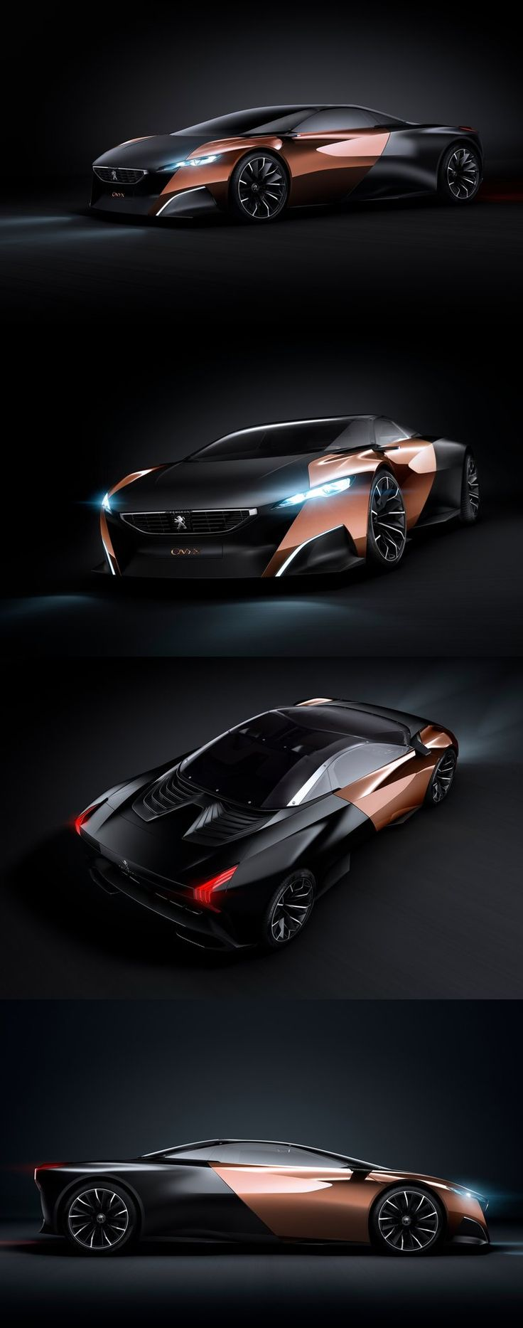 ♂ black & copper concept car Peugeot ONYX - Sportive, hybride and futuriste from http://www.zeutch.com/design/peugeot-onyx-41113