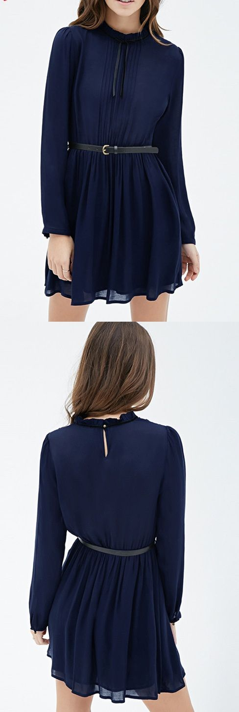 There is nothing more feminine than a ruffle chiffon dress! This style is perfect for party, dating and working. You may wear this dress in multiple times.