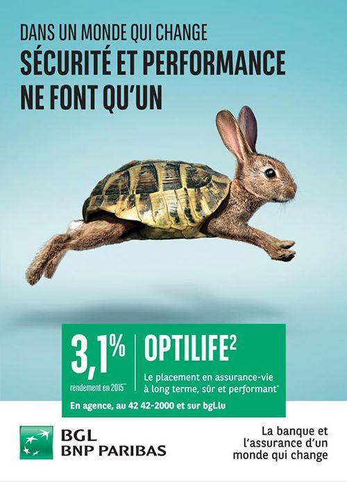 Annonceur : BGL BNP Paribas Campagne : OptiLife² Agence : Mikado Publicis Publication : Avril 2016