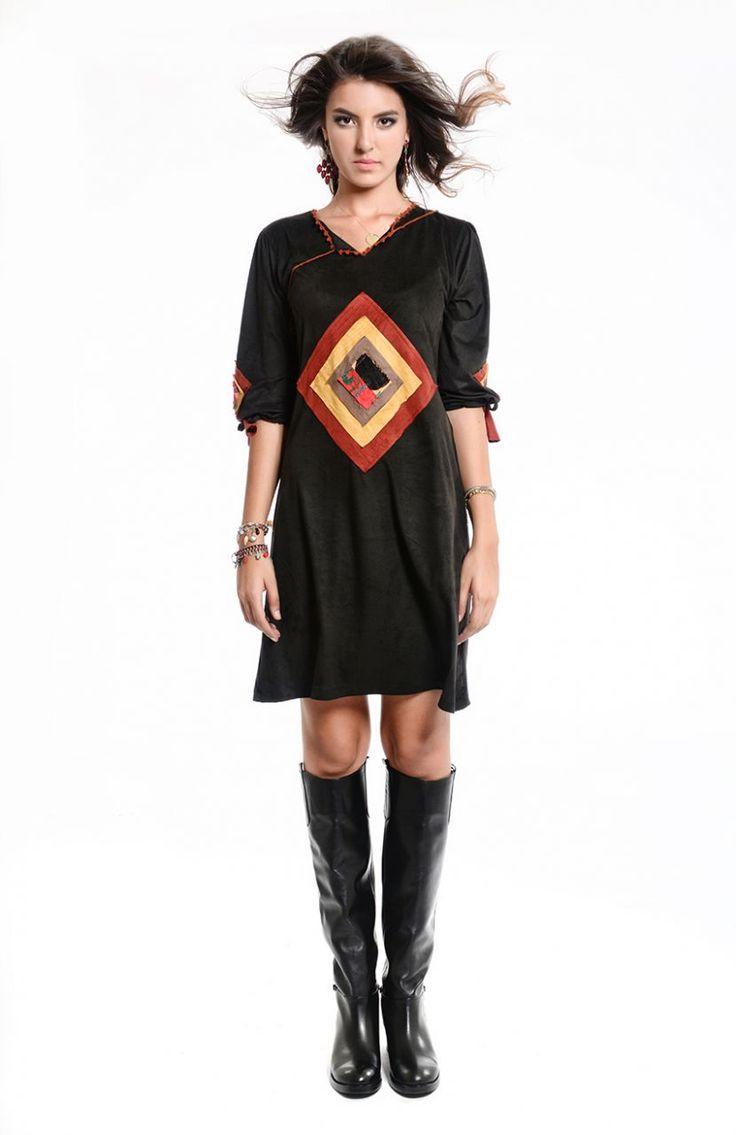 Otantik Harran Elbise - Siyah
