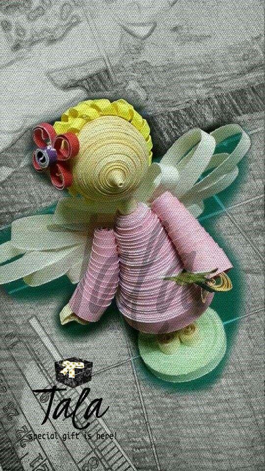 #talapaperquilling #paperart #craft #gift #art #jakartaolshop #jakartaonlineshop #handycraft #cute #customorder #jakarta #asia #indonesia #angel #malaikat