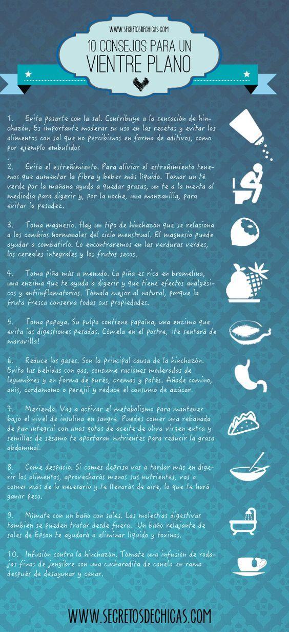 10 consejos para tener un vientre plano: