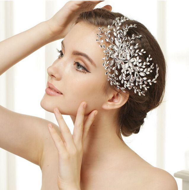 Англия яркий ручной работы кристалл стразы свадебные гребни для волос головные уборы свадебный венец диадемы свадьба волос ювелирные изделия