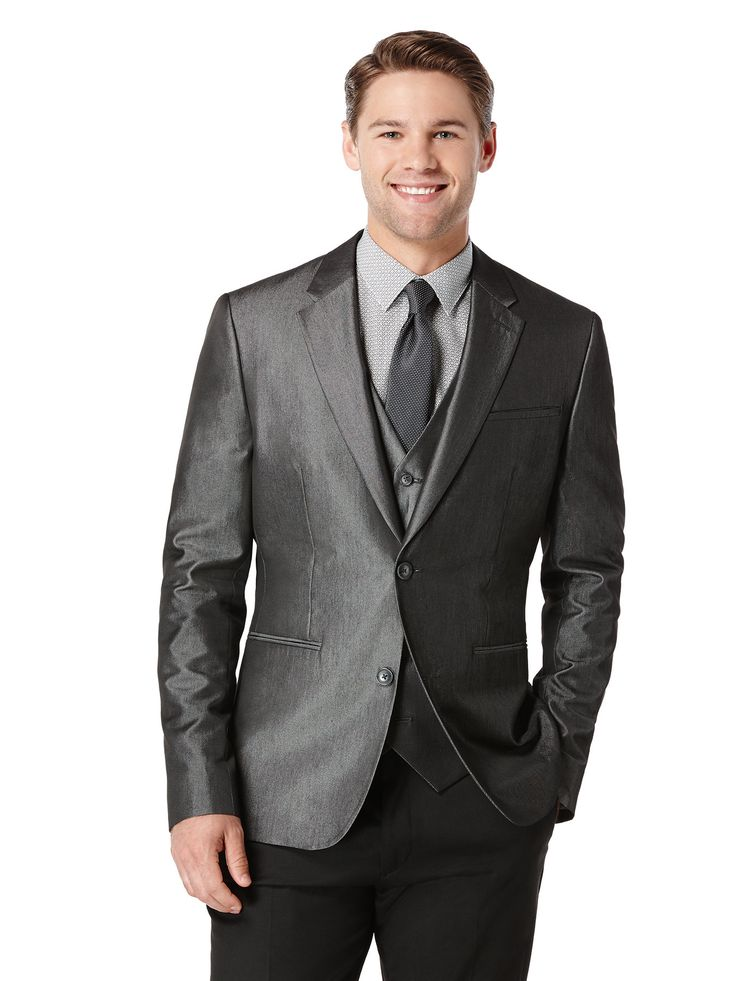 Perry Ellis Big and Tall Iridescent Twill Suit Jacket: 78% Polyester.22% Viscose. Big and Tall Fit.… #MensShirts #MensShoes #MensUnderwear