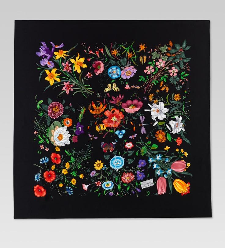 Gucci silk scarf great flower inspiration