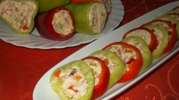 """Vynikajúci tip na skvelé veľkonočné pohostenie: Jarné plnené papriky  """"na studeno"""" chutia výborne a máte ich hotové raz-dva!"""