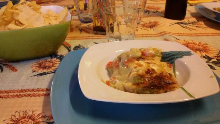 "1^ - 13.5.'16 6,40>10,30PM @ $  (*M&Lidia+childs) #itsfridaybitches  #studypredinner #pasta #Lasagne #peperone #melanzana #porro #zucchina 1^ #blackbread pane nero 1piece- #friedchips patatine #brie robiola bagoss #cheese #salad #spicyoil olio piccante ✌ #redwine vino rosso 'La Croatina'. #dessert 🙈 #sweet cake""🎂 torta avec #lime lemon limone #pan panna #sugar zucchero torta #strawberry fragole #icecream #gelato #topping #ff"
