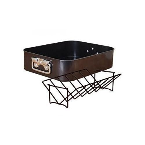 Generic Cuisine Select Steel Roasting Pan and Rack 2 Piece Set New * To view further for this item, visit the image link.