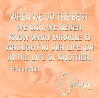 Do the best, know miracles + life Quote by Carducci Women ©