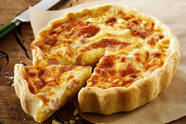 There's no need to head to a fancy bed-and-breakfast to get homemade quiche.  Flaky pastry, creamy cheese, tender egg and bacon make for a perfect savoury quiche.  Your family and friends will be asking for the recipe!