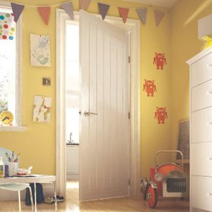 Wickes Geneva Internal Cottage Moulded Door White Finished 5 Panel 1981 x 686mm & The 25+ best Wickes internal doors ideas on Pinterest | Wickes ... pezcame.com