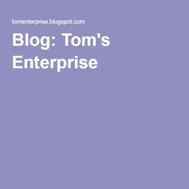 Blog: Tom's Enterprise.  Hi and welcome to Tom's Enterprise. Organist Thomas R. Schadl has a list of compositions that are written for the organ and piano, and other instruments. I hope you enjoy your visit to this site.